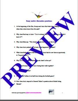 The kite runner essay thesis statement